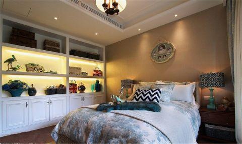 卧室博古架美式风格装潢图片