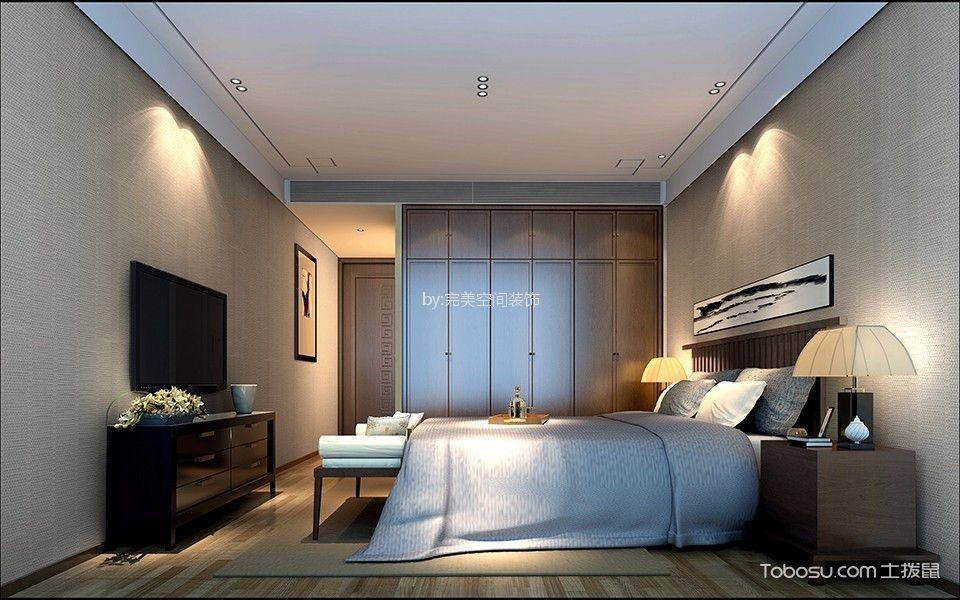 莱茵花园新中式风格四居室装修效果图