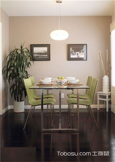 餐厅绿色细节现代简约风格装修图片