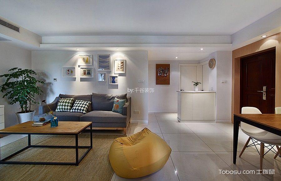 现代风格130平米公寓室内装修效果图