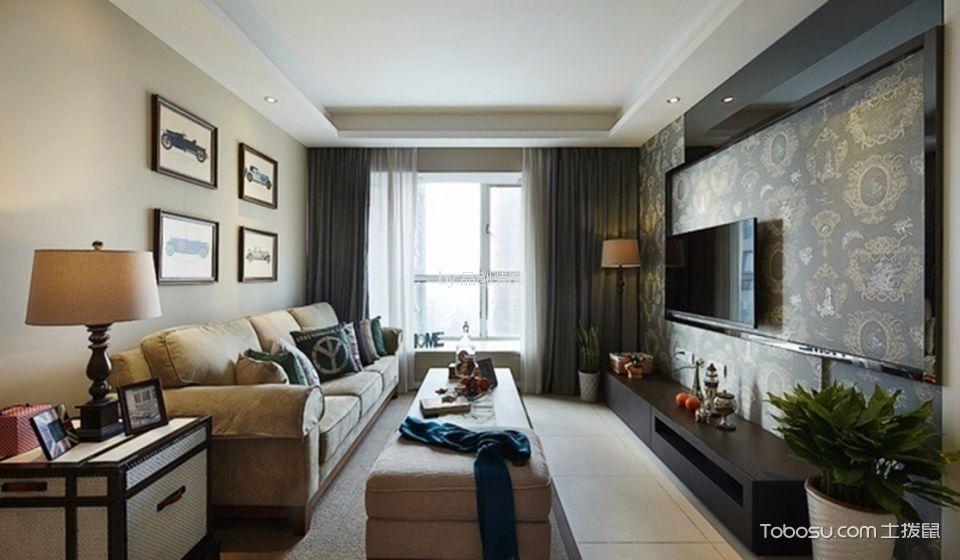 客厅彩色细节美式风格效果图
