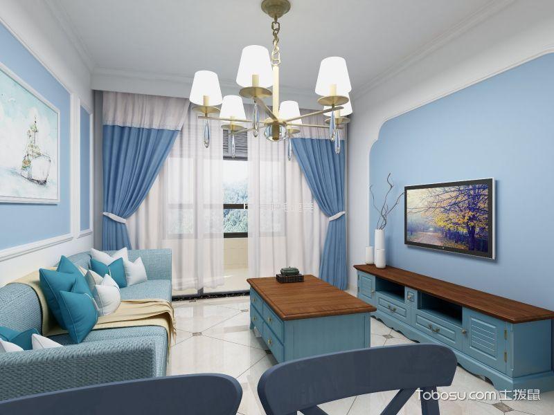 华夏茗湾学府86m²地中海两室装修效果图