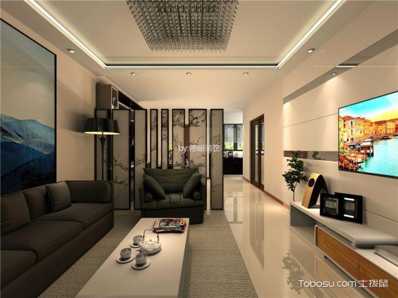 客厅白色细节现代简约风格装潢设计图片