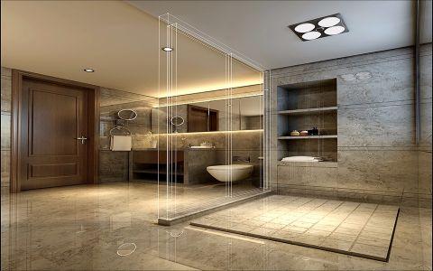 卫生间背景墙新中式风格装饰设计图片