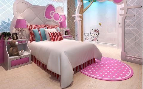 儿童房背景墙法式风格装饰效果图