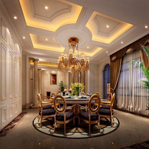 餐厅吊顶法式风格装修图片