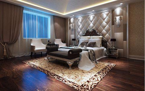卧室白色背景墙欧式风格装饰设计图片