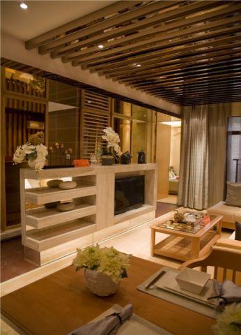 客厅窗帘现代简约风格装潢效果图