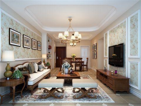 在风格上面,我们采用的是低调悠闲又不失品位的美式田园风格,硬装部分整体色调比较清新搭配深色的美式实木家具,让整体空间色调深浅有度,大方优雅!