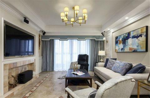 客厅窗帘欧式田园风格装饰设计图片