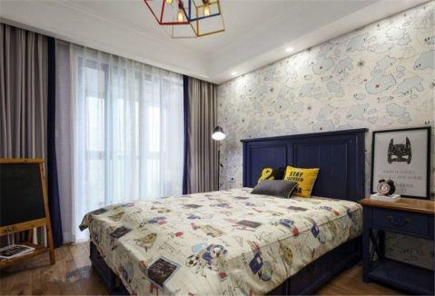 卧室窗帘欧式田园风格效果图