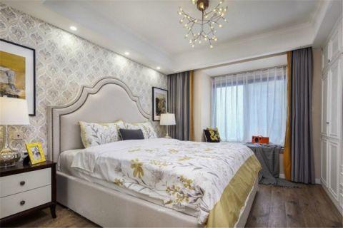 卧室背景墙欧式田园风格装修效果图