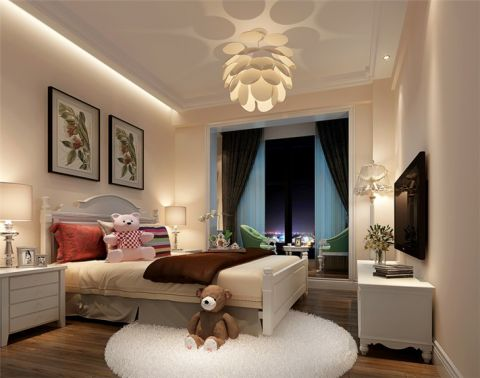 青山湖东园120平米简欧风格三居室装修效果图