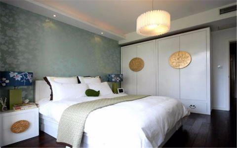 卧室背景墙新中式风格装修设计图片