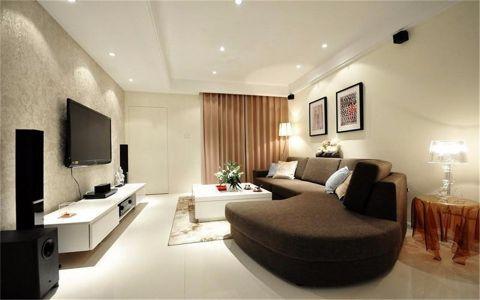 典雅居90平现代简约风格3居室装修效果图