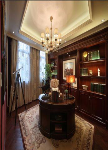 书房博古架美式风格装潢图片