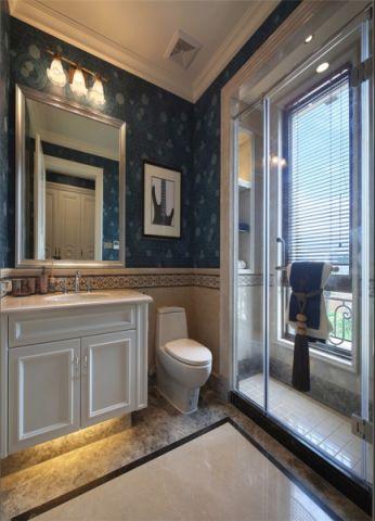 卫生间隔断美式风格装饰设计图片