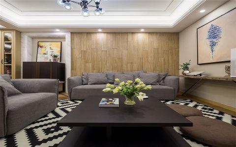 文一名门华现代风格96平二居室装修效果图