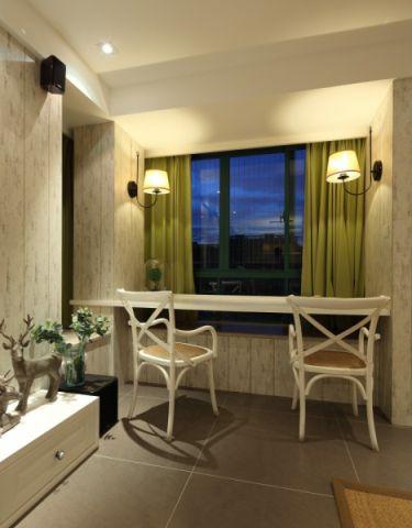 汇城雅园120平美式风格三居室装修效果图