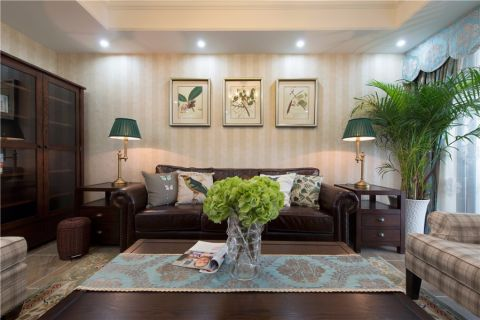 雨润城100平米美式风格三居室装修效果图