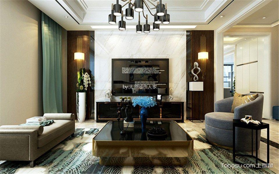 天泰玉泽园180平米现代简约风格四居室装修效果图