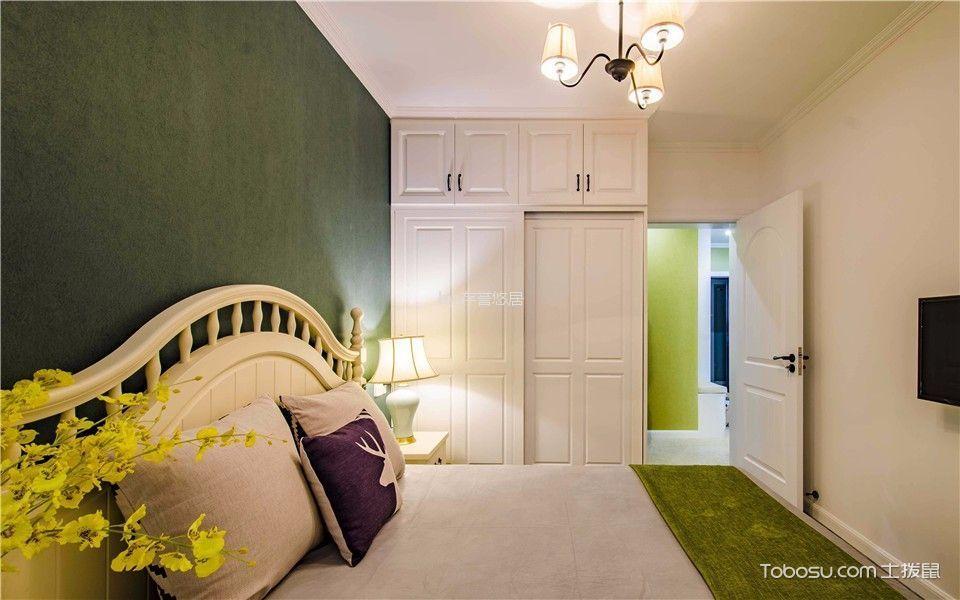 卧室绿色细节美式风格装潢设计图片