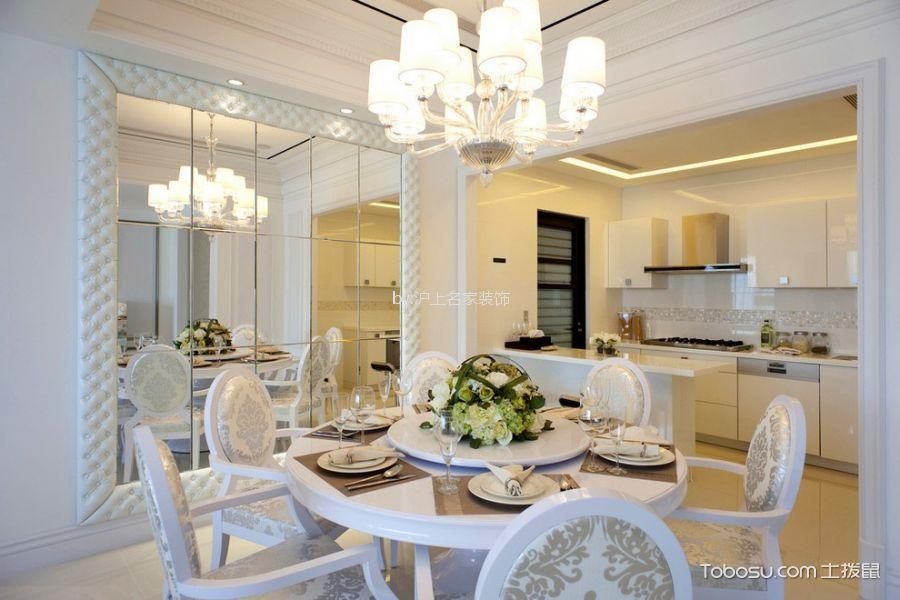 餐厅米色橱柜现代风格装潢图片