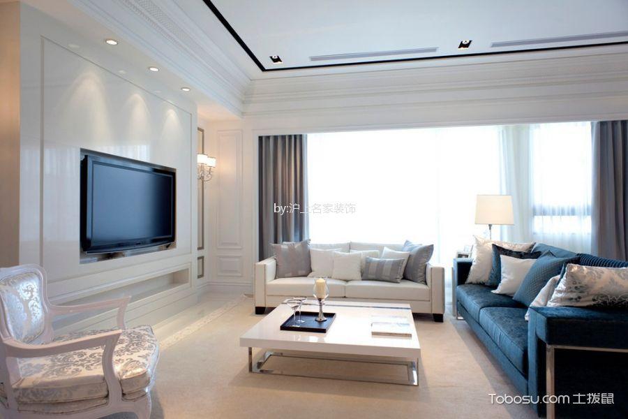 客厅蓝色细节现代风格装修效果图