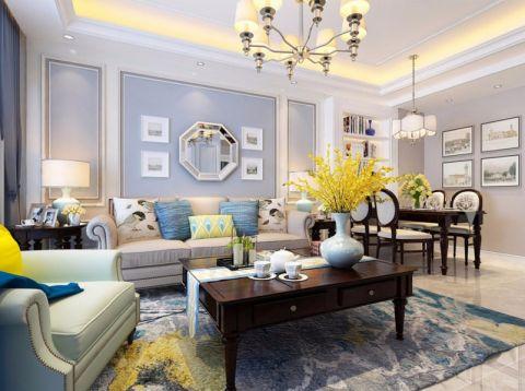 翰林国际城120平美式风格三居室装修效果图