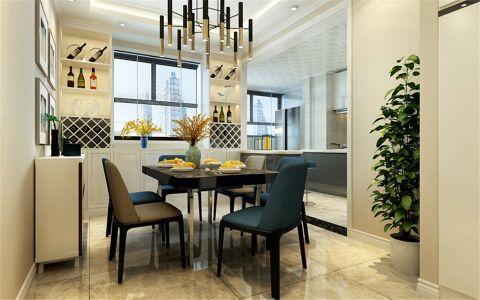 卫生间咖啡色餐桌现代简约风格装修效果图