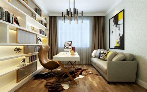 书房黄色照片墙现代简约风格装饰效果图