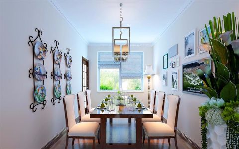 餐厅窗帘简约风格装修图片