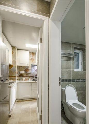 厨房走廊美式风格装饰设计图片