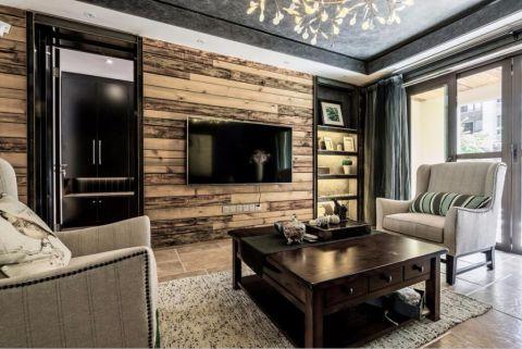 客厅博古架现代简约风格装潢效果图