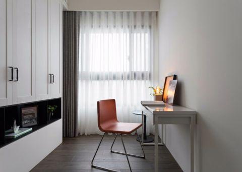 书房背景墙现代简约风格装饰效果图
