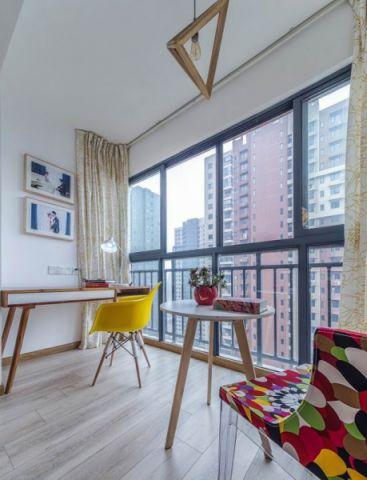 阳台飘窗现代风格装潢效果图