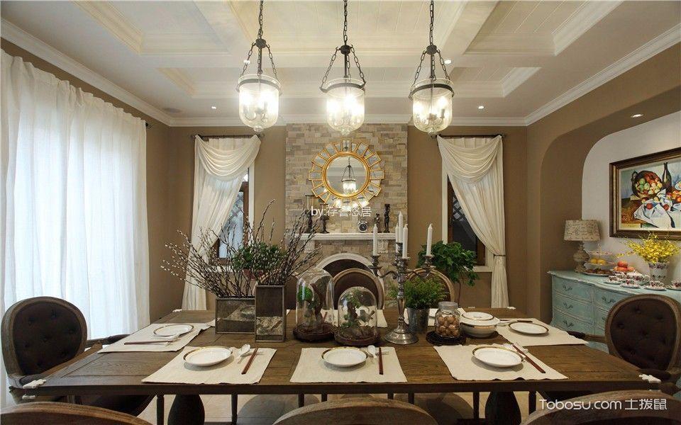 餐厅吊顶美式风格装修效果图图片