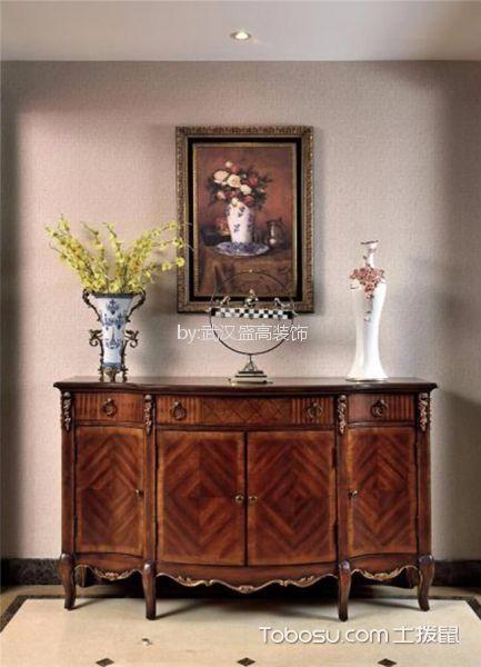 客厅咖啡色细节美式风格装修设计图片