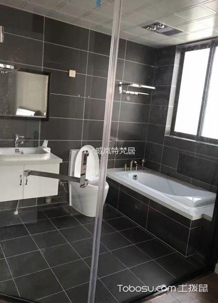 卫生间灰色细节混搭风格装潢设计图片