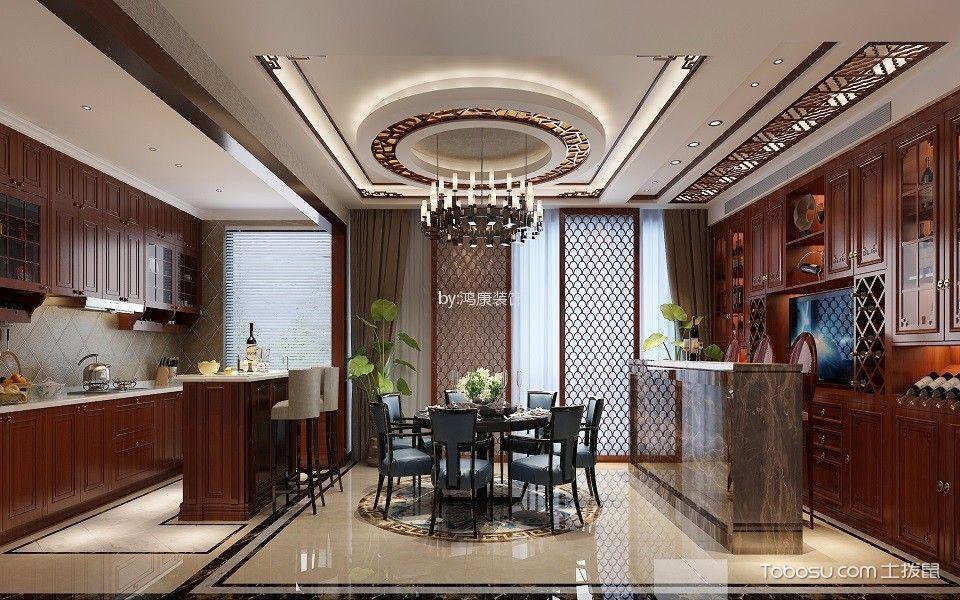 自在香山180平中式风格三居室装修效果图