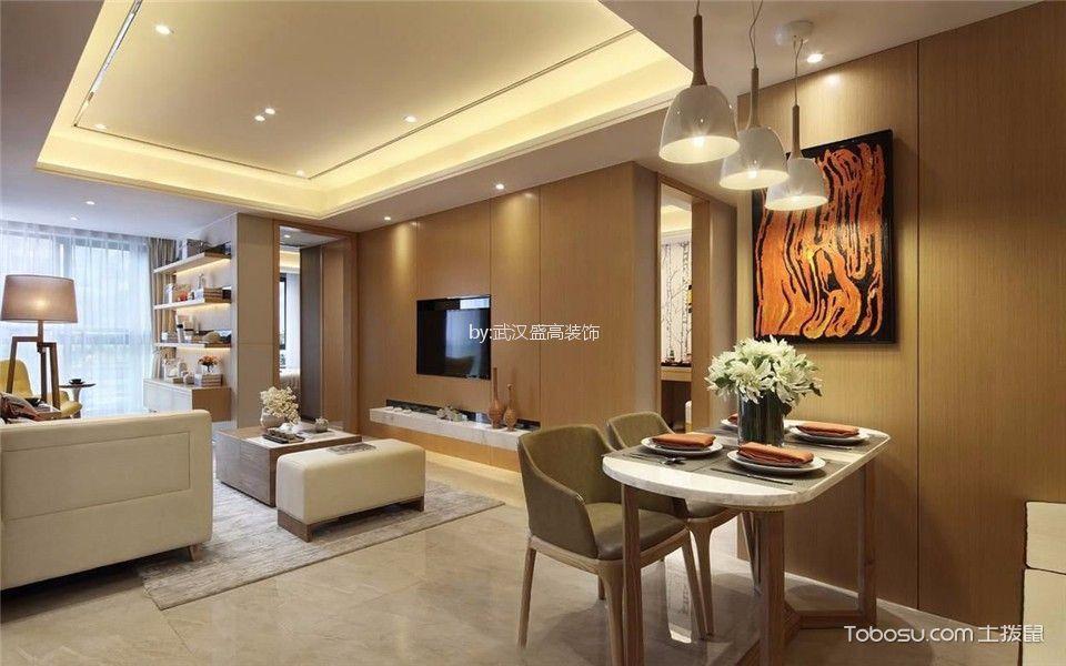 岭上府88平米现代简约风格二居室装修效果图