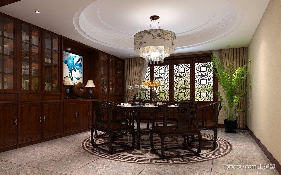 万象新新家园180平新中式风格装修效果图