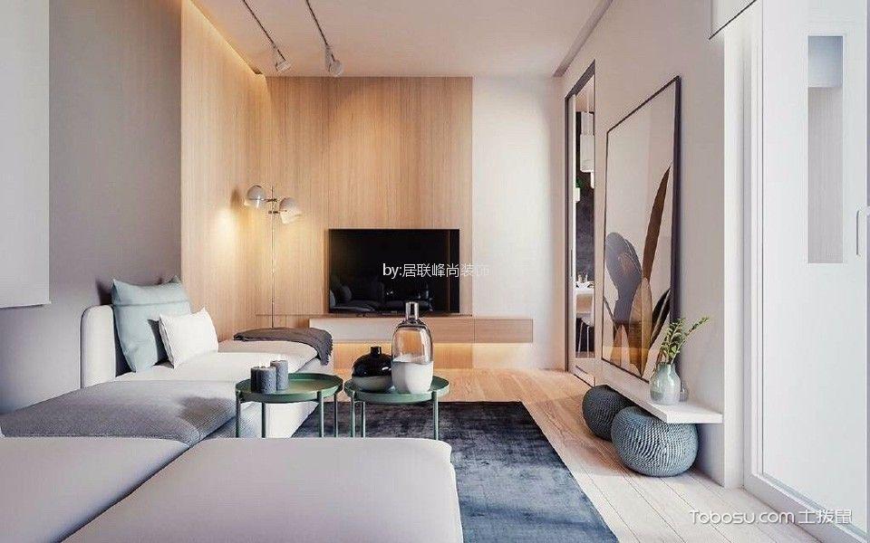 客厅白色细节现代简约风格装饰效果图