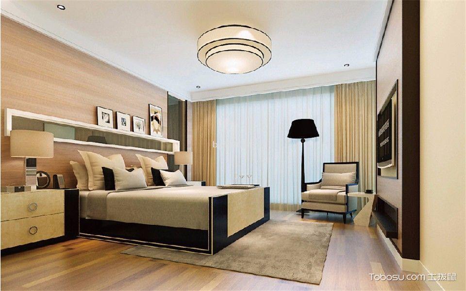 卧室米色细节现代简约风格装修图片