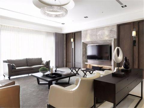 金辉淮安国际现代风格三居室装修效果图
