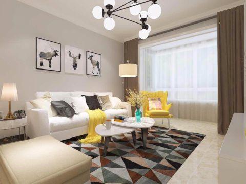 客厅照片墙现代简约风格效果图