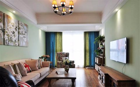 岭上府114平米美式风格三居室装修效果图