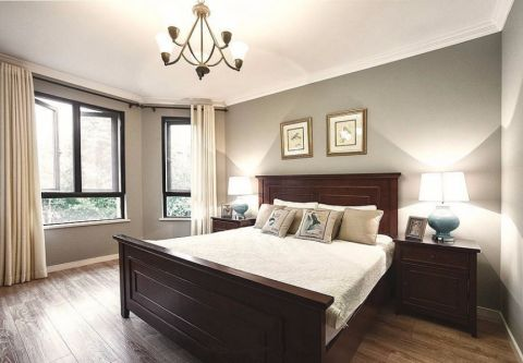 卧室窗帘中式风格效果图