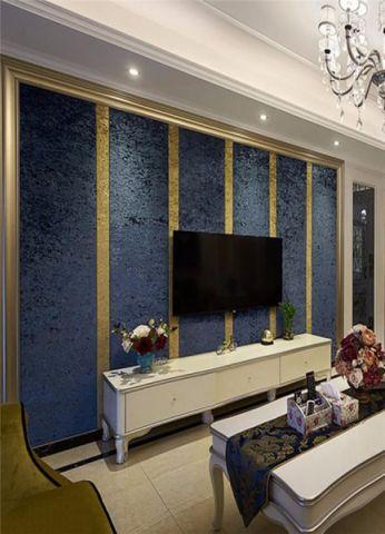 客厅背景墙欧式风格装修图片