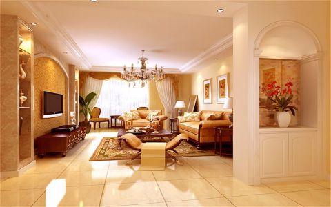 恒盛金陵湾120平欧式风格三居室装修效果图